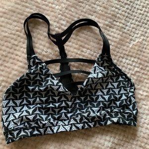 Black and white sports bra